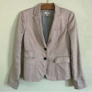 J.Crew blush linen schoolboy blazer